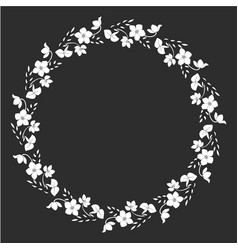 floral wreath graphics vector image
