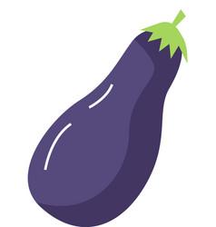 Fresh eggplant vegetable isolated icon aubergine vector