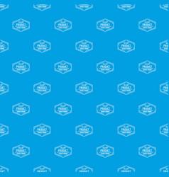 Gmo free pattern seamless blue vector