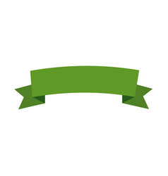 Green banner ribbon decoration image vector