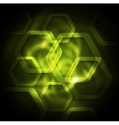 Green tech glowing background vector