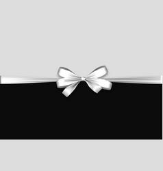 Holiday satin gift bow knot ribbon white vector