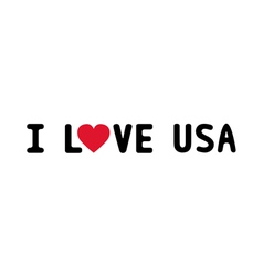 I LOVE USA1 vector image