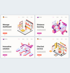 isometric innovative management technology vector image