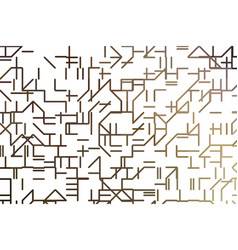 Line or shape art generative background template vector