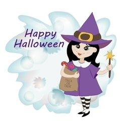 littlr witch vector image vector image