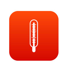medical thermometer icon digital red vector image