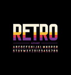 Modern retro style font design alphabet letters vector