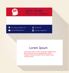 Nederland flag color business card design eps10 vector