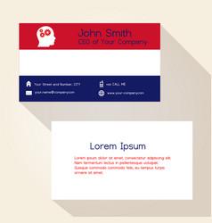 nederland flag color business card design eps10 vector image