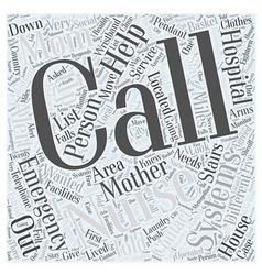 nurse call systems Word Cloud Concept vector image