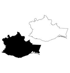 oaxaca map vector image