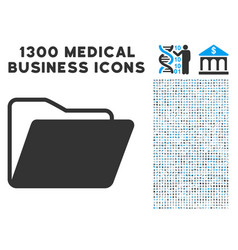 open folder icon with 1300 medical business icons vector image