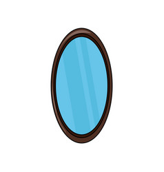 Oval mirror icon vector
