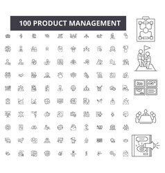 product management editable line icons 100 vector image