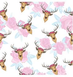reindeer seamless pattern vector image