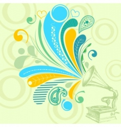 retro music background vector image