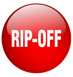 Rip-off red round gel isolated push button vector