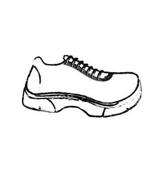 Running sport sneaker vector image