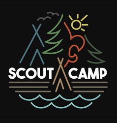Scout camp vector