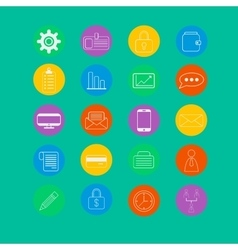 Set of bussines icons vector