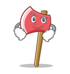 Smirking axe character cartoon style vector