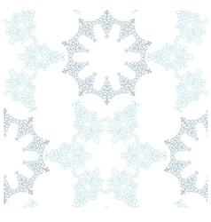 Snowflakes seamless background pattern vector