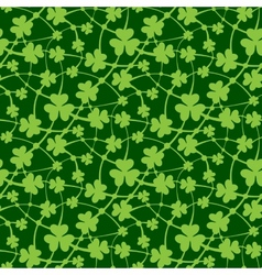 St Patrick day seamless pattern vector image