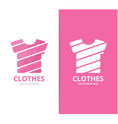 T-shirt logo combination garment and vector