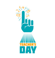 teachers day art vector image