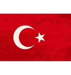 True proportions Turkey flag with texture vector