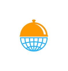 world food logo icon design vector image