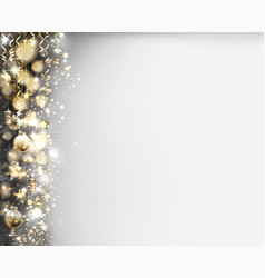xmas evening balls on shine glimmered vector image