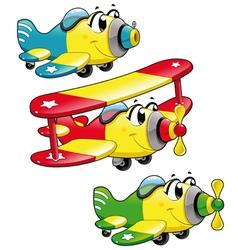 Cartoon airplanes vector image