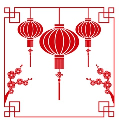 chinese paper cutting vector image vector image