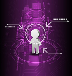 human digital future technology background vector image vector image