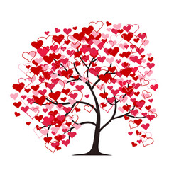 love tree isolated on the white background vector image vector image