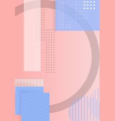 Trendy abstract shapes geometric background 90s vector