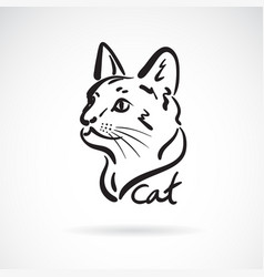 A cat head on white background pet animal easy vector