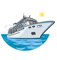 big ocean liner vector image