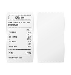 sales printed receipt white paper blank vector image