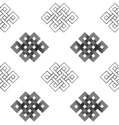 seamless pattern of silver endless knot vector image vector image