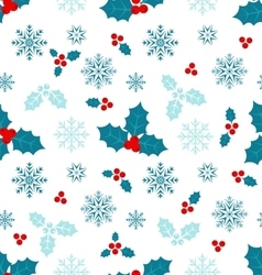 Seamless Pattern with Christmas Holly Berry vector image vector image