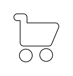 shopping cart icon isolated lined vector image vector image