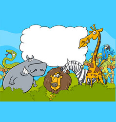 animal characters background vector image