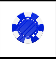 blue casino chip cartoon style isolated vector image