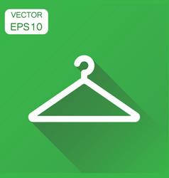 hanger icon business concept wardrobe hander vector image
