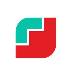 poppy logo red flower emblem symbol flower shop vector image