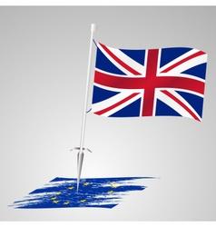 color united kingdom flag european union flag vector image vector image
