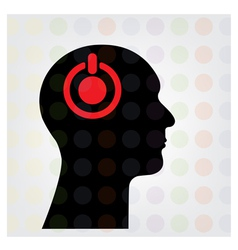 Creative silhouette head sign vector image vector image